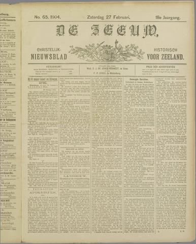 De Zeeuw. Christelijk-historisch nieuwsblad voor Zeeland 1904-02-27