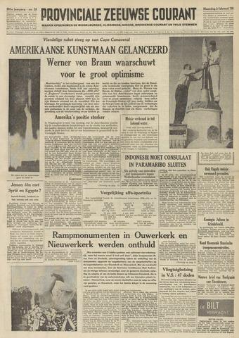 Provinciale Zeeuwse Courant 1958-02-03