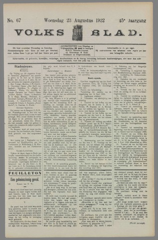 Volksblad 1922-08-23