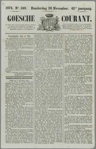 Goessche Courant 1874-11-26