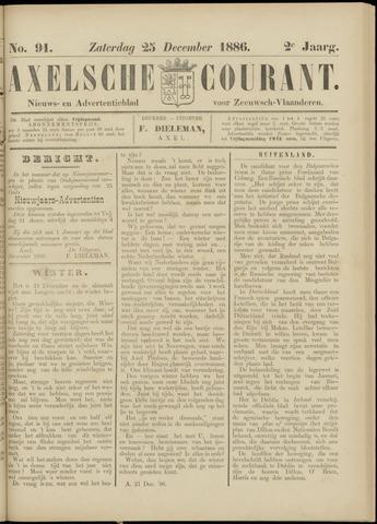 Axelsche Courant 1886-12-25