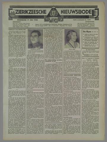 Zierikzeesche Nieuwsbode 1940-07-17