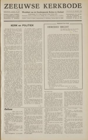 Zeeuwsche kerkbode, weekblad gewijd aan de belangen der gereformeerde kerken/ Zeeuwsch kerkblad 1958-03-21