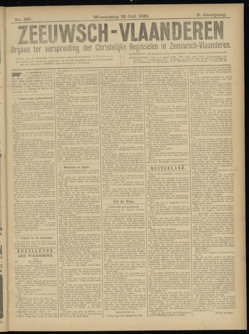 Luctor et Emergo. Antirevolutionair nieuws- en advertentieblad voor Zeeland / Zeeuwsch-Vlaanderen. Orgaan ter verspreiding van de christelijke beginselen in Zeeuwsch-Vlaanderen 1920-07-28