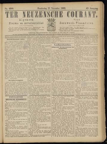 Ter Neuzensche Courant. Algemeen Nieuws- en Advertentieblad voor Zeeuwsch-Vlaanderen / Neuzensche Courant ... (idem) / (Algemeen) nieuws en advertentieblad voor Zeeuwsch-Vlaanderen 1902-11-27