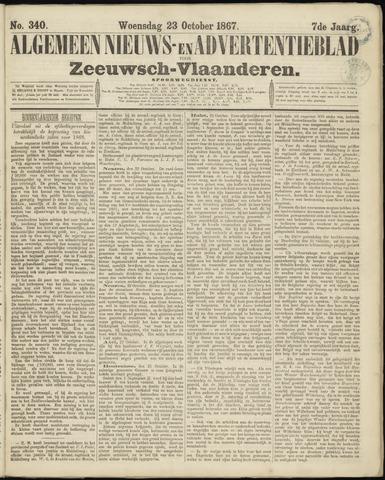 Ter Neuzensche Courant. Algemeen Nieuws- en Advertentieblad voor Zeeuwsch-Vlaanderen / Neuzensche Courant ... (idem) / (Algemeen) nieuws en advertentieblad voor Zeeuwsch-Vlaanderen 1867-10-23