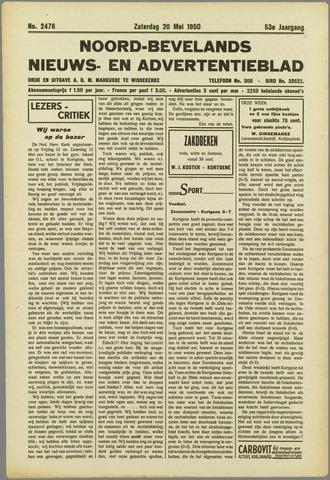 Noord-Bevelands Nieuws- en advertentieblad 1950-05-20