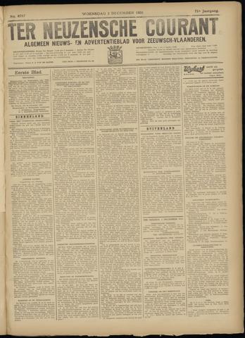 Ter Neuzensche Courant. Algemeen Nieuws- en Advertentieblad voor Zeeuwsch-Vlaanderen / Neuzensche Courant ... (idem) / (Algemeen) nieuws en advertentieblad voor Zeeuwsch-Vlaanderen 1931-12-02