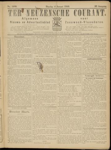 Ter Neuzensche Courant. Algemeen Nieuws- en Advertentieblad voor Zeeuwsch-Vlaanderen / Neuzensche Courant ... (idem) / (Algemeen) nieuws en advertentieblad voor Zeeuwsch-Vlaanderen 1910-01-04