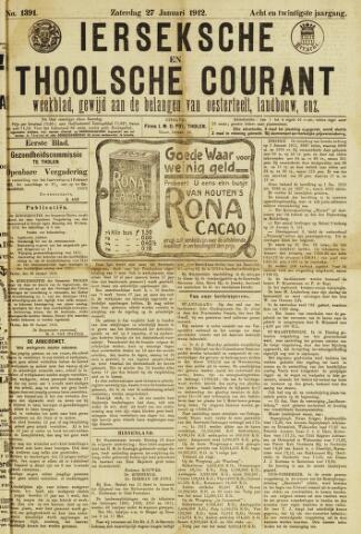 Ierseksche en Thoolsche Courant 1912-01-27