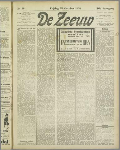 De Zeeuw. Christelijk-historisch nieuwsblad voor Zeeland 1921-10-21