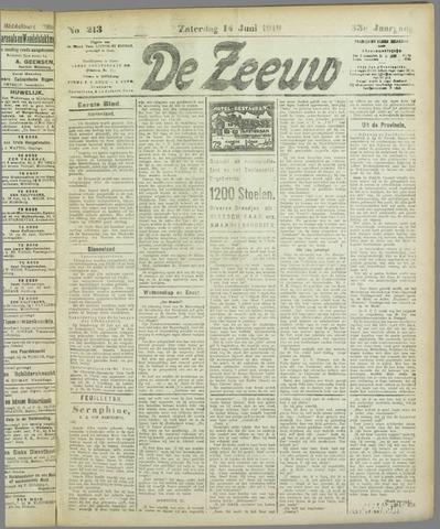 De Zeeuw. Christelijk-historisch nieuwsblad voor Zeeland 1919-06-14