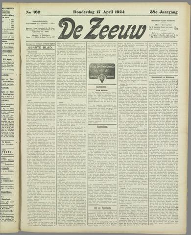 De Zeeuw. Christelijk-historisch nieuwsblad voor Zeeland 1924-04-17