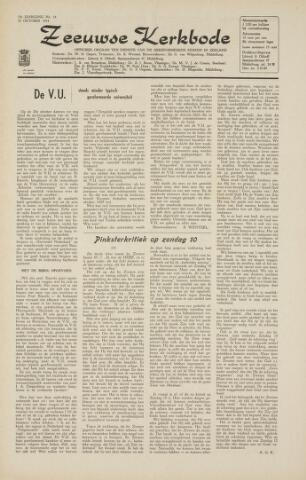 Zeeuwsche kerkbode, weekblad gewijd aan de belangen der gereformeerde kerken/ Zeeuwsch kerkblad 1964-10-23
