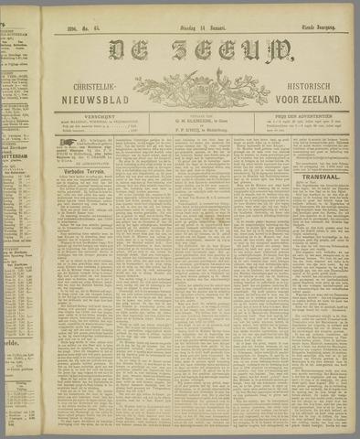 De Zeeuw. Christelijk-historisch nieuwsblad voor Zeeland 1896-01-14