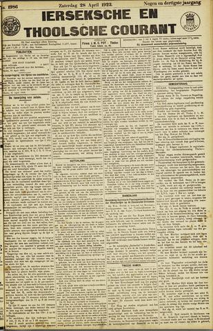 Ierseksche en Thoolsche Courant 1923-04-28