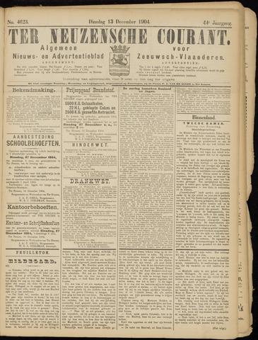 Ter Neuzensche Courant. Algemeen Nieuws- en Advertentieblad voor Zeeuwsch-Vlaanderen / Neuzensche Courant ... (idem) / (Algemeen) nieuws en advertentieblad voor Zeeuwsch-Vlaanderen 1904-12-13