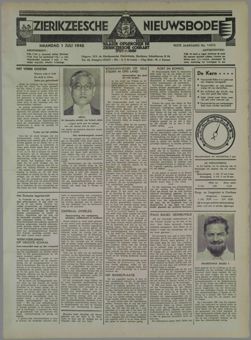 Zierikzeesche Nieuwsbode 1940-07-01