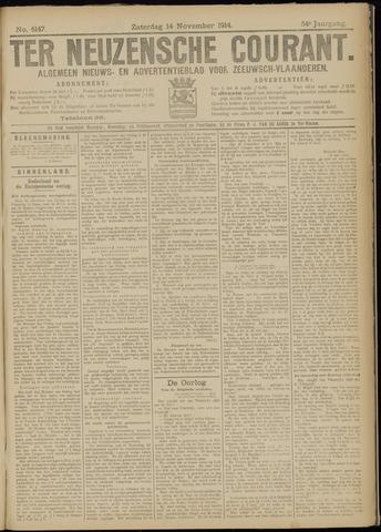 Ter Neuzensche Courant. Algemeen Nieuws- en Advertentieblad voor Zeeuwsch-Vlaanderen / Neuzensche Courant ... (idem) / (Algemeen) nieuws en advertentieblad voor Zeeuwsch-Vlaanderen 1914-11-14