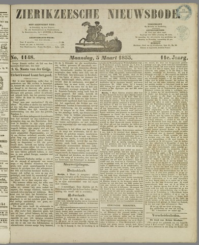 Zierikzeesche Nieuwsbode 1855-03-05
