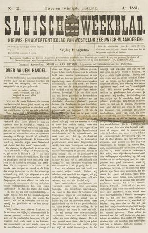 Sluisch Weekblad. Nieuws- en advertentieblad voor Westelijk Zeeuwsch-Vlaanderen 1881-08-12