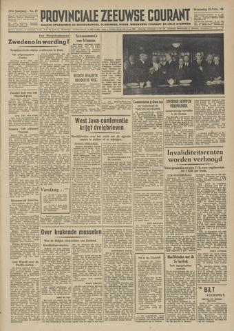 Provinciale Zeeuwse Courant 1948-02-25