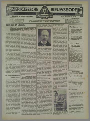 Zierikzeesche Nieuwsbode 1940-08-27