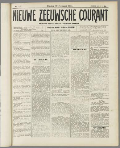 Nieuwe Zeeuwsche Courant 1907-02-19