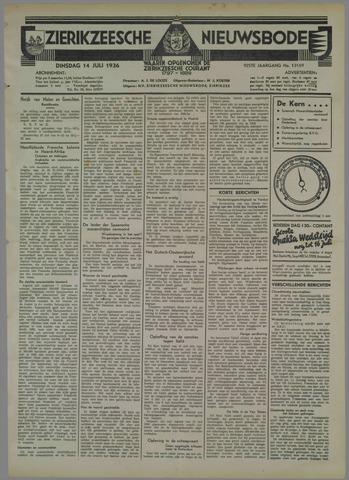 Zierikzeesche Nieuwsbode 1936-07-14
