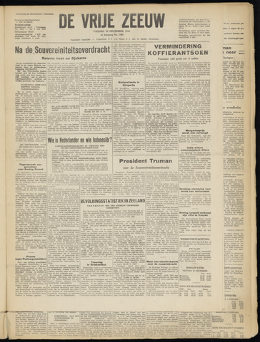 de Vrije Zeeuw 1949-12-30