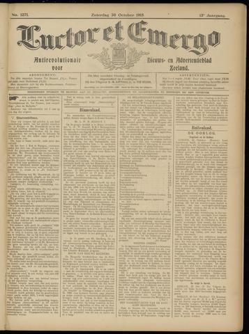 Luctor et Emergo. Antirevolutionair nieuws- en advertentieblad voor Zeeland / Zeeuwsch-Vlaanderen. Orgaan ter verspreiding van de christelijke beginselen in Zeeuwsch-Vlaanderen 1915-10-30