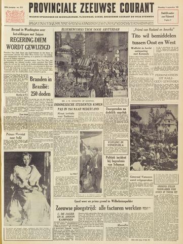 Provinciale Zeeuwse Courant 1963-09-09