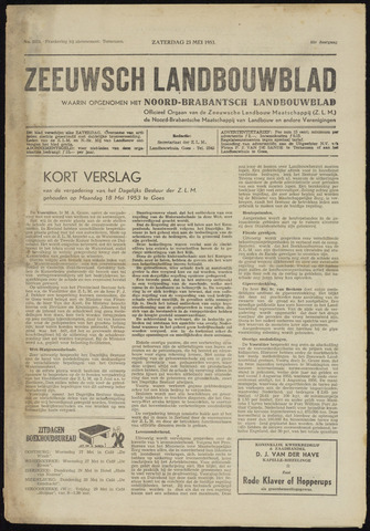 Zeeuwsch landbouwblad ... ZLM land- en tuinbouwblad 1953-05-23