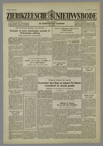 Zierikzeesche Nieuwsbode 1958-06-17