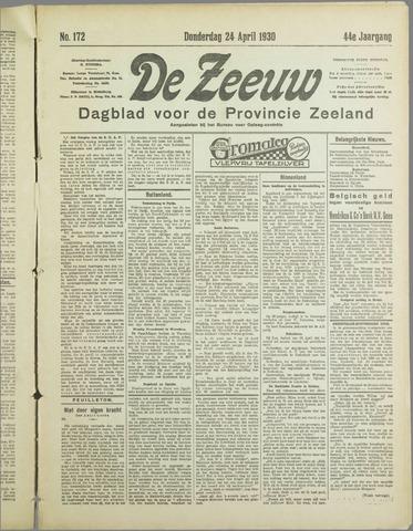 De Zeeuw. Christelijk-historisch nieuwsblad voor Zeeland 1930-04-24