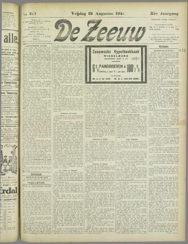 De Zeeuw. Christelijk-historisch nieuwsblad voor Zeeland 1921-08-19