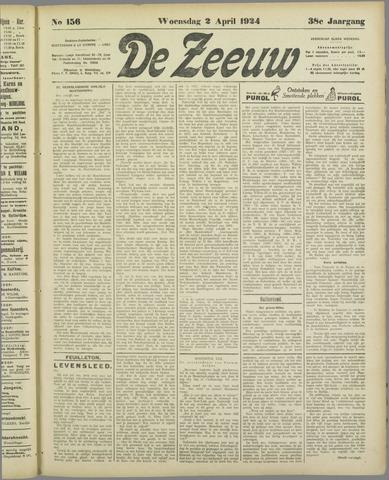 De Zeeuw. Christelijk-historisch nieuwsblad voor Zeeland 1924-04-02