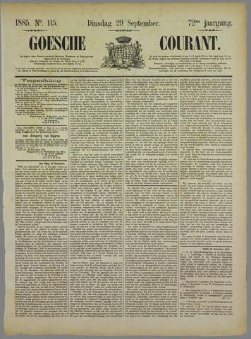 Goessche Courant 1885-09-29