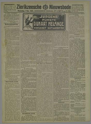 Zierikzeesche Nieuwsbode 1923-11-07