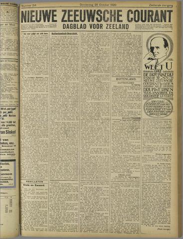 Nieuwe Zeeuwsche Courant 1920-10-28