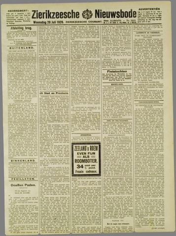 Zierikzeesche Nieuwsbode 1926-07-28