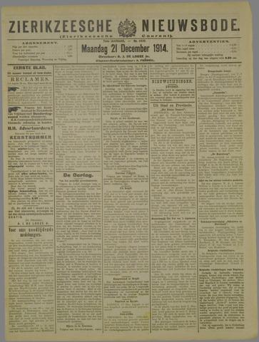 Zierikzeesche Nieuwsbode 1914-12-21