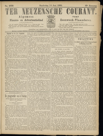 Ter Neuzensche Courant. Algemeen Nieuws- en Advertentieblad voor Zeeuwsch-Vlaanderen / Neuzensche Courant ... (idem) / (Algemeen) nieuws en advertentieblad voor Zeeuwsch-Vlaanderen 1900-06-14