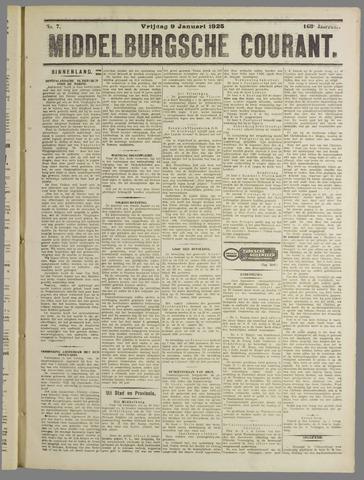 Middelburgsche Courant 1925-01-09