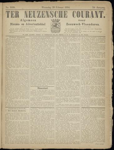 Ter Neuzensche Courant. Algemeen Nieuws- en Advertentieblad voor Zeeuwsch-Vlaanderen / Neuzensche Courant ... (idem) / (Algemeen) nieuws en advertentieblad voor Zeeuwsch-Vlaanderen 1884-02-20