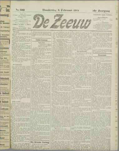 De Zeeuw. Christelijk-historisch nieuwsblad voor Zeeland 1917-02-08