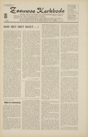 Zeeuwsche kerkbode, weekblad gewijd aan de belangen der gereformeerde kerken/ Zeeuwsch kerkblad 1966-09-16