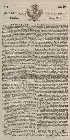Middelburgsche Courant 1771-03-09