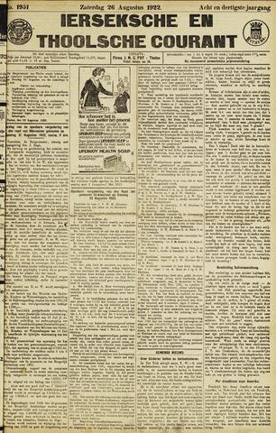 Ierseksche en Thoolsche Courant 1922-08-26