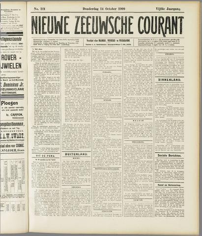 Nieuwe Zeeuwsche Courant 1909-10-14